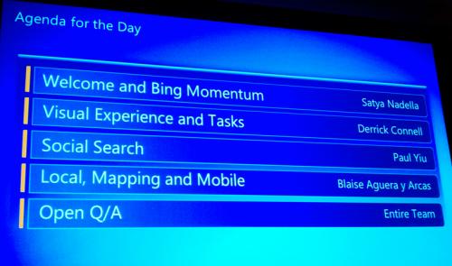 Bing Conference Agenda