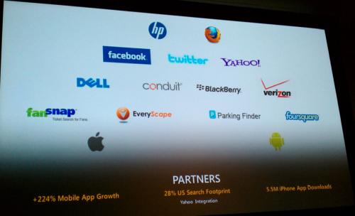 Bing Partners - Facebook, Twitter, Yahoo etc.