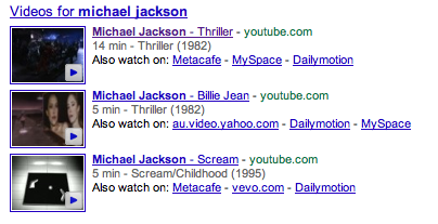 Search Result for Michael Jackson Thriller