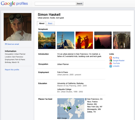 Google Profiles New Look